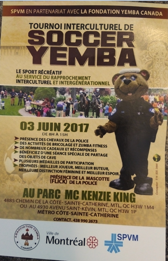 TOURNOI INTERCULTUREL – SOCCER-YEMBA2017